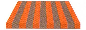 Acheter toile de store Rayures Ref :  BYE 8472 GRIS/ORANGE