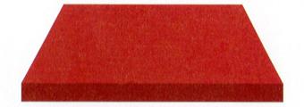 Acheter toile de store Unis Ref : BYU 75 ROUGE